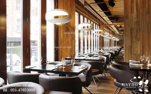 دکوراسیون داخلی رستوران شرکت بینو