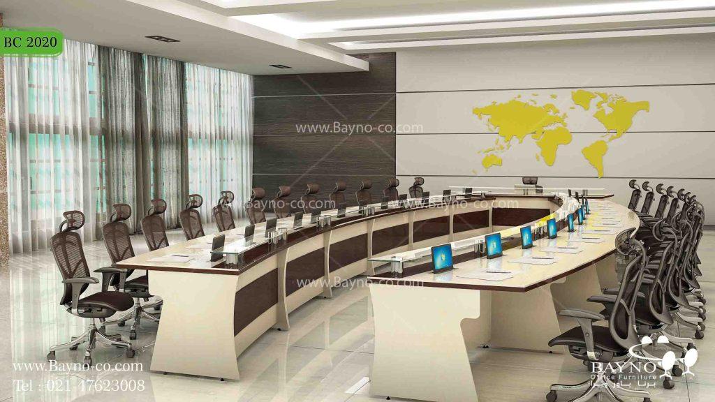 میز کنفرانس لوکس-میز کنفرانس-سالن کنفرانس-میز کنفرانس باشیشه-میز کنفرانس هایگلاس-5 نکته طراحی برای هر فضای اداری