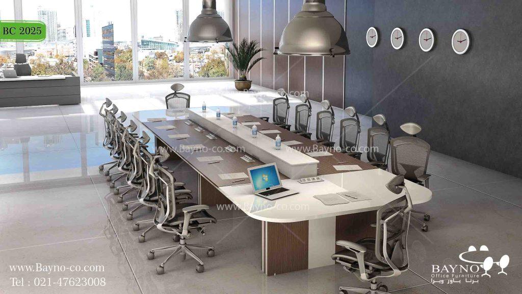 میز کنفرانس لوکس-میز کنفرانس-سالن کنفرانس-میز کنفرانس باشیشه-میز کنفرانس هایگلاس-مبلمان اداری و نکاتی برای خرید آن