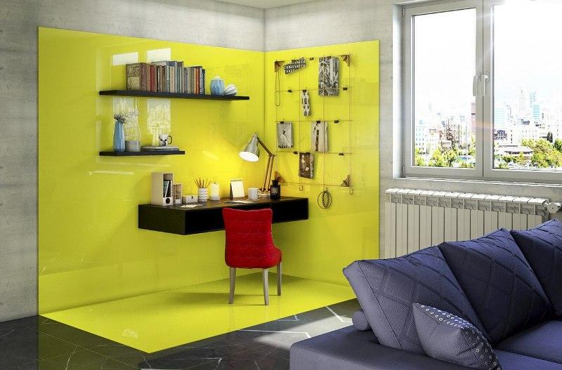 رنگ زرد در فضای اداری