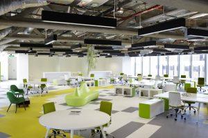 پلان باز طبقات در طراحی محل کار